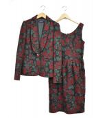 Lois CRAYON(ロイスクレヨン)の古着「セットアップワンピース」|レッド×グリーン