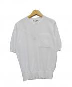 BERARDI(ベラルディ)の古着「半袖ニット」|ホワイト
