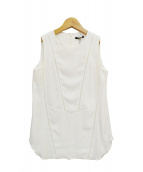 BERARDI(ベラルディ)の古着「ノースリーブブラウス」|ホワイト