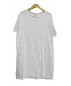 GROUND Y(グラウンドワイ)の古着「フロントスリットTシャツ」|ホワイト