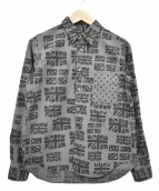 BLACK COMME des GARCONS(ブラックコムデギャルソン)の古着「総柄シャツ」 ブラック×グレー