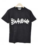 BLACK COMME des GARCONS()の古着「プリントTシャツ」|ブラック