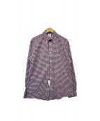 Brooks Brothers(ブルックスブラザーズ)の古着「チェックシャツ」|パープル×ホワイト