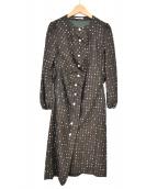 mina perhonen(ミナペルホネン)の古着「SUNNY SNOW DRESS」 ブラウン