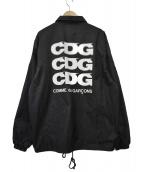 GOOD DESIGN SHOP COMME des GARCONS(グットデザインショップコムデギャルソン)の古着「CDGロゴコーチジャケット」 ブラック