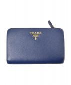 ()の古着「サフィアーノ財布」|ブルー
