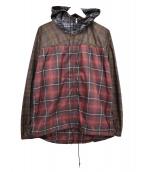 COMME des GARCONS SHIRT(コムデギャルソンシャツ)の古着「チェックポリパーカー」|レッド×ブラウン