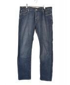 PT05(ピーティーゼロチンクエ)の古着「デニムパンツ」|ネイビー