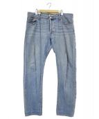 PT05(ピーティーゼロチンクエ)の古着「ダメージデニムパンツ」|ブルー