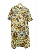 Lois CRAYON(ロイスクレヨン)の古着「フラワープリントワンピース」|アイボリー×マルチカラー