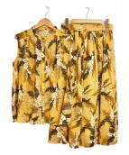 Lois CRAYON(ロイスクレヨン)の古着「ノースリーブブラウスセットアップ」|マスタード