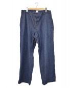 COMOLI(コモリ)の古着「デニムオーバーパンツ」|インディゴ