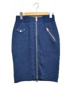 DIESEL(ディーゼル)の古着「デニムスウェットスカート」 ブルー