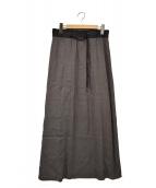HELMUT LANG(ヘルムートラング)の古着「レーヨン/シルクロングスカート」|ブラウン