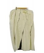 AKANE UTSUNOMIYA(アカネ ウツノミヤ)の古着「カットオフヘムロングスカート」|アイボリー