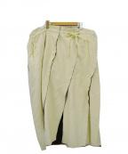 AKANE UTSUNOMIYA(アカネウツノミヤ)の古着「カットオフヘムロングスカート」 アイボリー