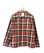 SYU.homme(シュウ オム)の古着「Over Plaid Shirts JKT」|レッド