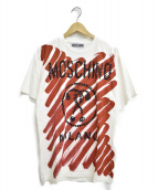 MOSCHINO(モスキーノ)の古着「Tシャツ」|ホワイト×レッド