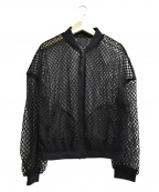 AULA(アウラ)の古着「メッシュブルゾン」|ブラック