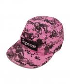 SUPREME()の古着「17AW NYCO Twill Camp Cap」|ピンク×ブラック