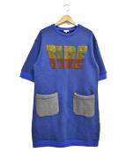 KENZO(ケンゾー)の古着「FIREスウェットワンピース」|ブルー×グレー