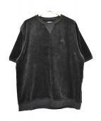 STUSSY(ステューシ)の古着「半袖ベロアスウェット」|ブラック