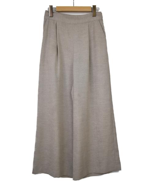 SHIPS(シップス)SHIPS (シップス) リネンライクワイドパンツ ベージュ サイズ:Mの古着・服飾アイテム
