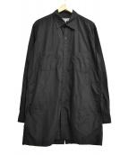 YohjiYamamoto pour homme(ヨウジヤマモト プールオム)の古着「19S/S R-後あき還縫いシャツ」 ブラック