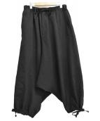 YohjiYamamoto pour homme(ヨウジヤマモト プールオム)の古着「Classic Sarouel Pants Wrinkled」 ブラック