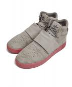 adidas(アディダス)の古着「TUBULAR INVADER STRAP」 グレー×ピンク