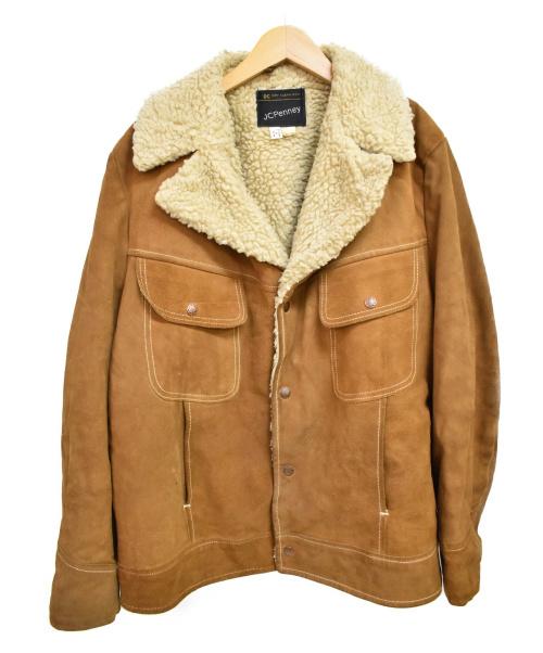 JC PENNEY(J.C.ペニー)JC PENNEY (J.C.ペニー) [古着]70'sヴィンテージレザーランチジャケット ブラウン サイズ:Lの古着・服飾アイテム