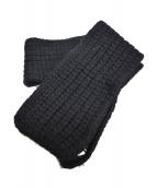 tricot COMME des GARCONS(トリココムデギャルソン)の古着「ニットマフラー」|ブラック