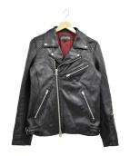 JACKROSE(ジャックローズ)の古着「ダブルライダースジャケット」|ブラック