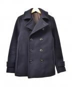 SABLE CLUTCH(セーブルクラッチ)の古着「SKINNY P-COAT/ANTI-PILL W MELT」|ネイビー