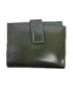 土屋鞄(ツチヤカバン)の古着「コンパクトウォレット」|グリーン