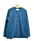 CURLY(カーリー)の古着「ノーカラージャケット」|ブルー