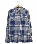 REMI RELIEF(レミレリーフ)の古着「チェックシャツ」|インディゴ×ホワイト