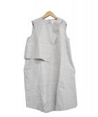 ENFOLD(エンフォルド)の古着「ノースリーブワンピース」|ライトグレー