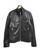 JUN MEN(ジュンメン)の古着「ラムレザージャケット」 ブラック