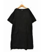 prit(プリット)の古着「サイドポケットコットンワンピース」|ブラック