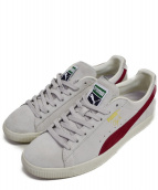 PUMA(プーマ)の古着「CLYDE FROM THE ARCHIVE」 グレー×レッド