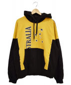 doublet(ダブレット)の古着「18AW HOODIE WITH KIDS SIZE T-S」|ブラック×マスタード