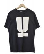 UNDER COVER(アンダーカバー)の古着「UプリントロゴTシャツ」 ブラック