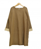 fog linen work(フォグリネンワーク)の古着「ウールワンピース」 ブラウン
