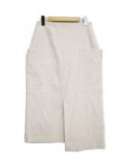 IENA(イエナ)の古着「ビッグポケットアシンメトリースカート」|ベージュ