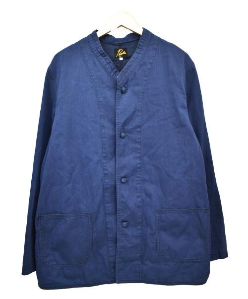 Needles(ニードルス)Needles (ニードルズ) オリジナルボタンスタンドカラーカバーオール インディゴ サイズ:L oriental button stand collar coveralの古着・服飾アイテム