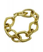 ()の古着「アンギュラーブレスレットS」|ゴールド