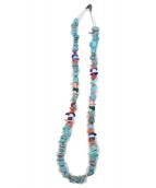 Indian jewellery(インディアンジュエリー)の古着「ナバホ族 ターコイズ ビーズネックレス」|スカイブルー