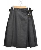 ONEIL OF DUBLIN(オニール オブ ダブリン)の古着「プリーツラップスカート」 グレー
