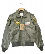 HOUSTON(ヒューストン)の古着「CWU-36/P FLIGHT JACKET」|セージグリーン